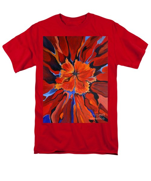 Red Bloom Men's T-Shirt  (Regular Fit) by Alison Caltrider