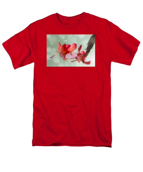 Red Christmas Cactus Bloom Men's T-Shirt  (Regular Fit) by Patti Deters