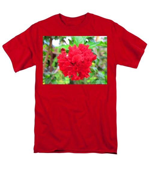 Red Flower Men's T-Shirt  (Regular Fit) by Sergey Lukashin