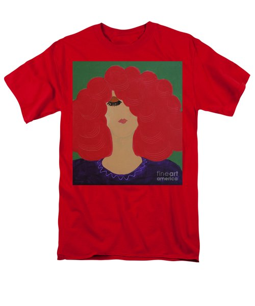 Men's T-Shirt  (Regular Fit) featuring the painting Red Head by Anita Lewis