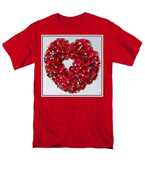 Red Heart Wreath Men's T-Shirt  (Regular Fit)