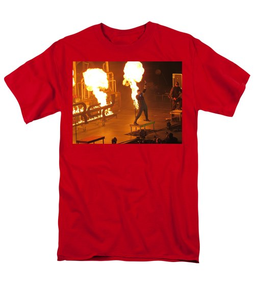Men's T-Shirt  (Regular Fit) featuring the photograph Red Heats Up Winterjam In Atlanta by Aaron Martens