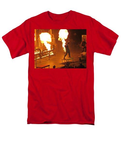 Red Heats Up Winterjam In Atlanta Men's T-Shirt  (Regular Fit) by Aaron Martens