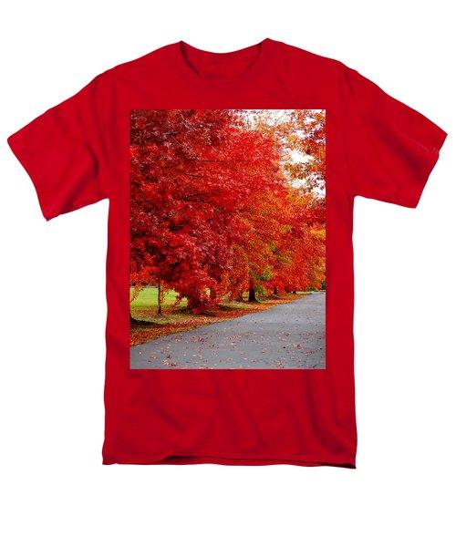 Red Leaf Road Men's T-Shirt  (Regular Fit)