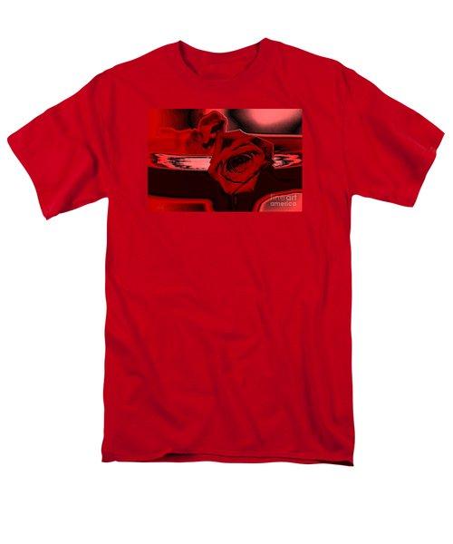Red Passion. Rose Men's T-Shirt  (Regular Fit)