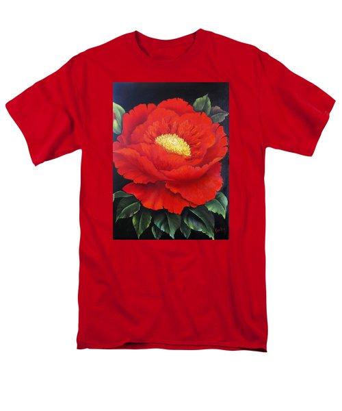 Red Peony Men's T-Shirt  (Regular Fit) by Katia Aho