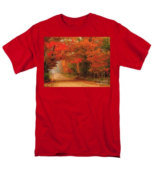 Red Red Autumn Men's T-Shirt  (Regular Fit) by Terri Gostola