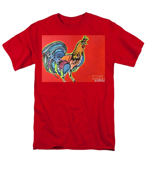 Men's T-Shirt  (Regular Fit) featuring the painting Red Rooster by Nicole Gaitan