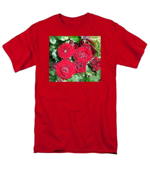 Men's T-Shirt  (Regular Fit) featuring the photograph Red Roses by Vesna Martinjak