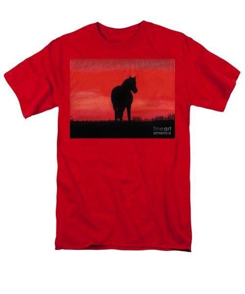 Red Sunset Horse Men's T-Shirt  (Regular Fit) by D Hackett