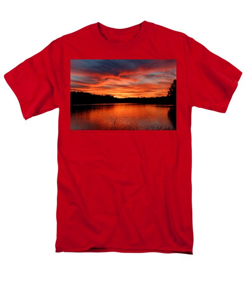 Red Sunset Reflections Men's T-Shirt  (Regular Fit) by Denyse Duhaime