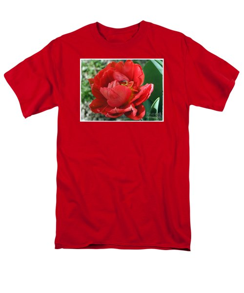 Men's T-Shirt  (Regular Fit) featuring the photograph Red Tulip by Vesna Martinjak