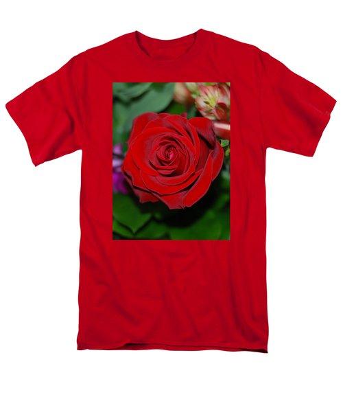 Red Velvet Rose Men's T-Shirt  (Regular Fit) by Connie Fox
