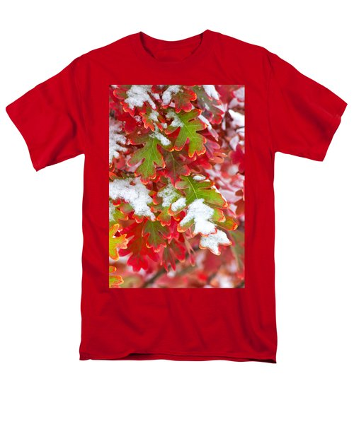 Men's T-Shirt  (Regular Fit) featuring the photograph Red White And Green by Ronda Kimbrow