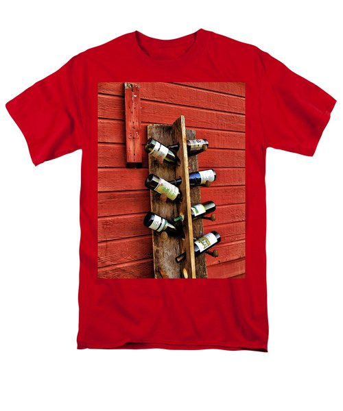 Men's T-Shirt  (Regular Fit) featuring the photograph Rustic Wine Rack by Jean Goodwin Brooks