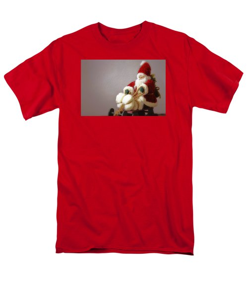 Men's T-Shirt  (Regular Fit) featuring the photograph Santa Takes His Sled by Nadalyn Larsen