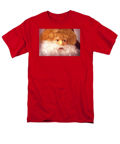 Men's T-Shirt  (Regular Fit) featuring the photograph Santa With Big Blue Eyes by Nadalyn Larsen