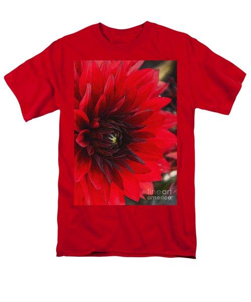Scarlet Dahlia Men's T-Shirt  (Regular Fit) by Janice Rae Pariza