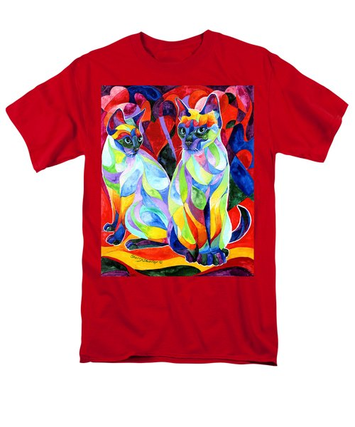 Siamese Sweethearts Men's T-Shirt  (Regular Fit) by Sherry Shipley