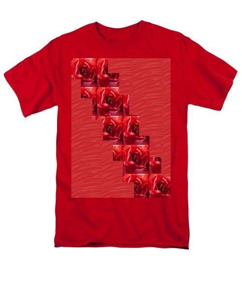 Silken Red Sparkles Redrose Across Men's T-Shirt  (Regular Fit) by Navin Joshi