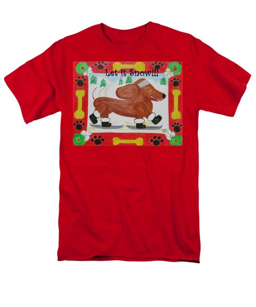Men's T-Shirt  (Regular Fit) featuring the painting Snow Dog by Diane Pape