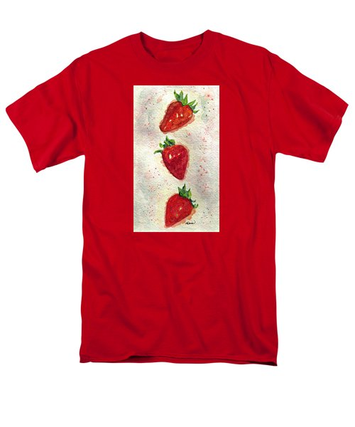 Men's T-Shirt  (Regular Fit) featuring the painting So Juicy by Angela Davies