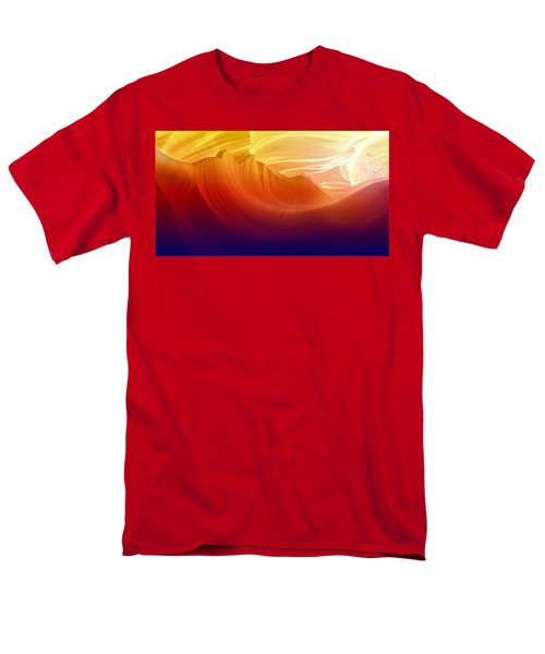 Men's T-Shirt  (Regular Fit) featuring the photograph Somewhere In America Series - Colorful Light In Antelope Canyon by Lilia D