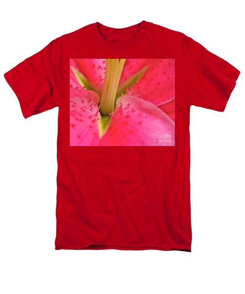 Men's T-Shirt  (Regular Fit) featuring the photograph Stargazer Lily by Linda Bianic