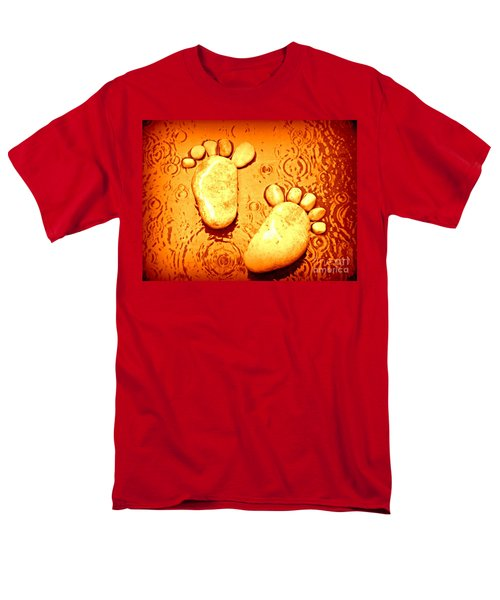 Men's T-Shirt  (Regular Fit) featuring the photograph Stoney In The Rain by Clare Bevan