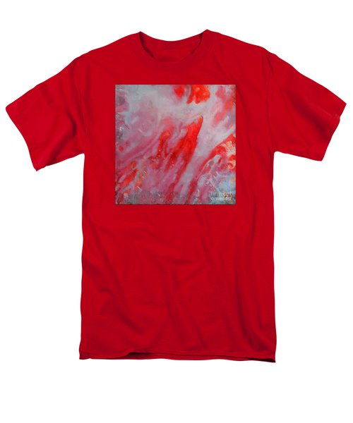 Men's T-Shirt  (Regular Fit) featuring the painting Strawberry Ice Cream by Dragica  Micki Fortuna