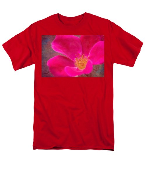 Summer Delight My Pink Rose Men's T-Shirt  (Regular Fit) by Denyse Duhaime