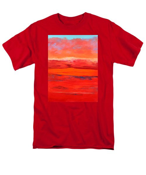 Men's T-Shirt  (Regular Fit) featuring the painting Summer Heat 2 by M Diane Bonaparte