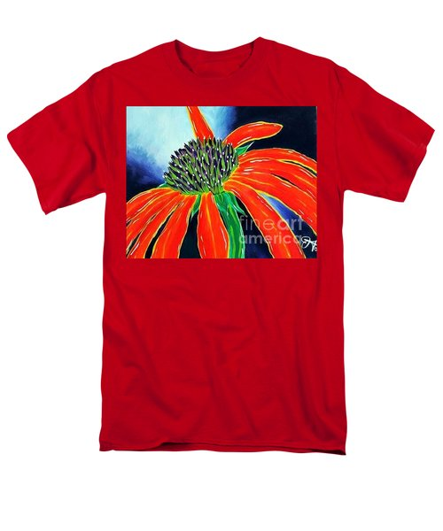 Men's T-Shirt  (Regular Fit) featuring the painting Summer Kissed Cone Flower by Jackie Carpenter