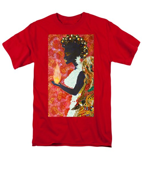 Men's T-Shirt  (Regular Fit) featuring the tapestry - textile Sun Guardian - The Keeper Of The Universe by Apanaki Temitayo M