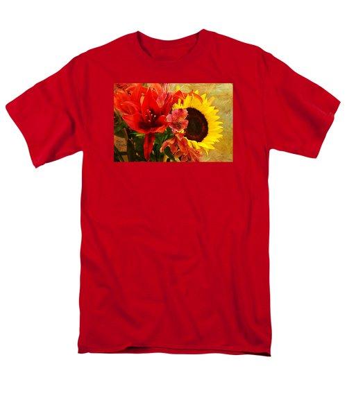 Sunflower Bouquet Men's T-Shirt  (Regular Fit) by Sandi OReilly