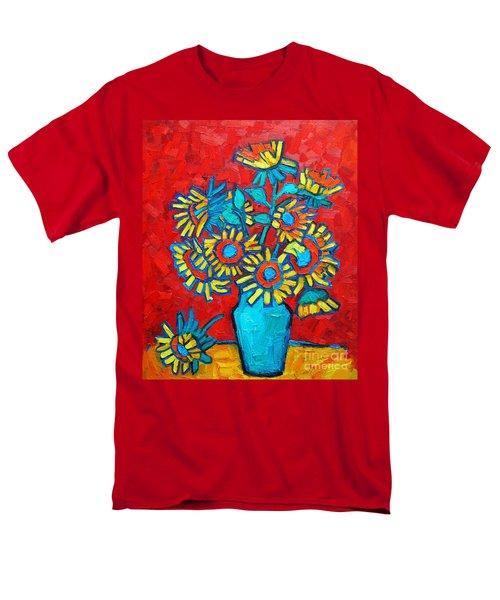 Sunflowers Bouquet Men's T-Shirt  (Regular Fit) by Ana Maria Edulescu