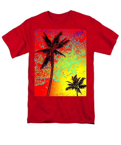 Men's T-Shirt  (Regular Fit) featuring the photograph Sunset Palms by David Lawson