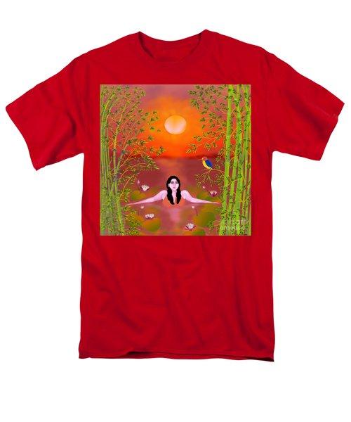 Men's T-Shirt  (Regular Fit) featuring the digital art Sunset Songs by Latha Gokuldas Panicker
