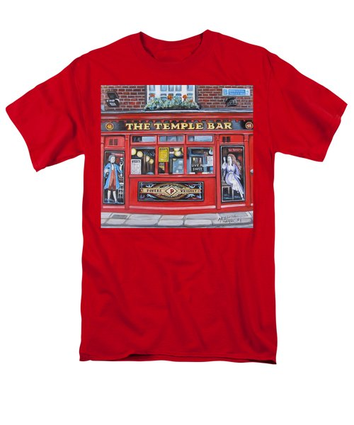 Temple Bar Dublin Ireland Men's T-Shirt  (Regular Fit) by Melinda Saminski