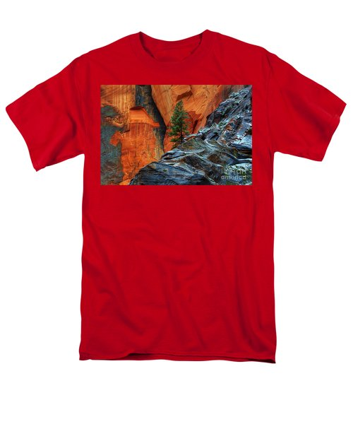 The Beauty Of Sandstone Zion Men's T-Shirt  (Regular Fit) by Bob Christopher