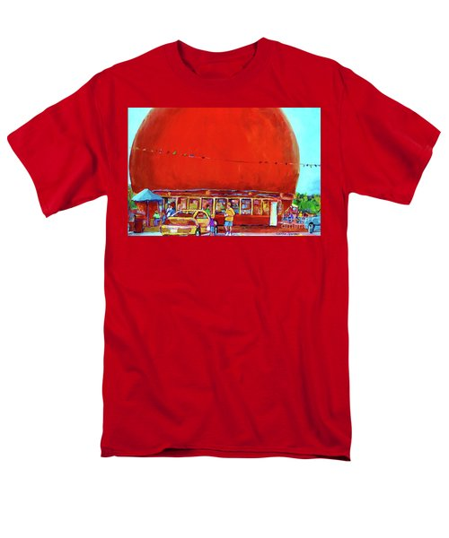 The Orange Julep Montreal Summer City Scene Men's T-Shirt  (Regular Fit) by Carole Spandau