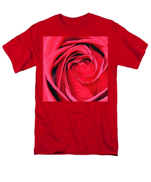 Men's T-Shirt  (Regular Fit) featuring the painting The Red Rose Blooming by Karon Melillo DeVega
