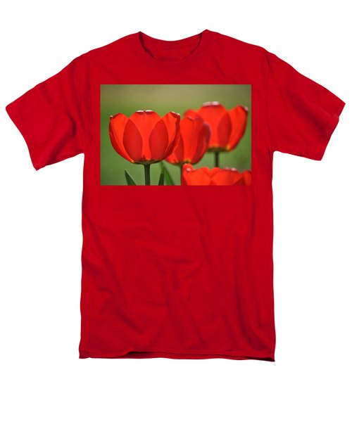 The Red Tulips Men's T-Shirt  (Regular Fit) by Eric Liller