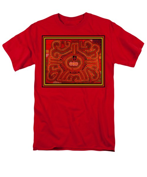 Men's T-Shirt  (Regular Fit) featuring the digital art Three Layers Of The World by Vagabond Folk Art - Virginia Vivier