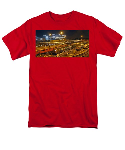 Trains Nyc Men's T-Shirt  (Regular Fit) by Jeffrey Friedkin
