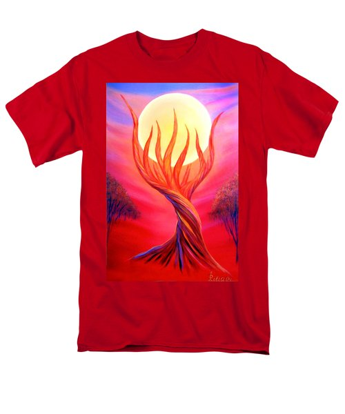 Men's T-Shirt  (Regular Fit) featuring the painting Trapped Moon by Lilia D
