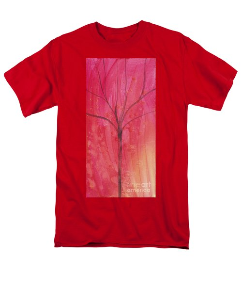 Men's T-Shirt  (Regular Fit) featuring the painting Tree Of Three Pink by Robin Maria Pedrero