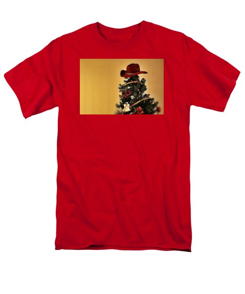 Men's T-Shirt  (Regular Fit) featuring the photograph Tree Topper Texas Style by Nadalyn Larsen