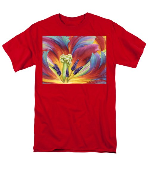 Men's T-Shirt  (Regular Fit) featuring the painting Tulip Color Study by Jane Girardot