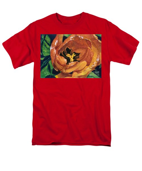 Men's T-Shirt  (Regular Fit) featuring the painting Tulip Swirl by Barbara Jewell